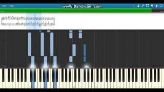 """Rest In Peace"" The Undertaker Current WWE Theme - Piano (Synthesia)"