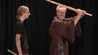 MythBusters Get Lightsaber Lessons