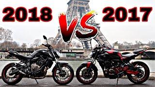 YAMAHA MT 07 2017 VS 2018 - FRANCHEMENT J'ADORE 💪🏽