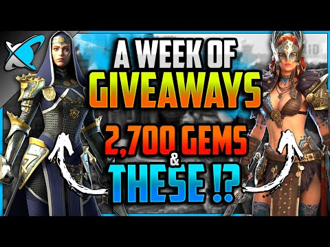 *A WEEK OF GIVEAWAYS* | 2,700 Gems & THESE Champions !? | RAID: Shadow Legends