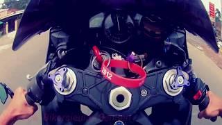 BikerSieuLay Yamaha R1 test speed 2xxkm/h and wheelie ^^