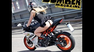 Bomber Babe first ride @ KTM RC 390