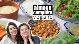 ALMOÇO COMPLETO FÁCIL E RÁPIDO | VEGANO | TNM Vegg