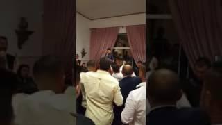 Taninho a cantar na festa do Tó