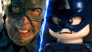Avengers Endgame Trailer 2 Lego Stop Motion Side by Side Comparison