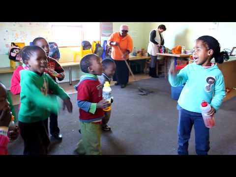 Pre-schoolers singing at Amalinda Forest