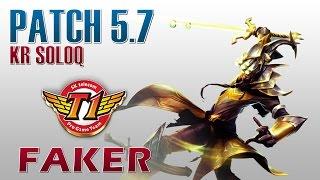 SKT T1 Faker - Master Yi Mid Lane - KR SoloQ