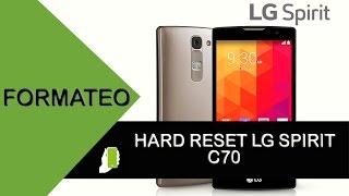 LG Spirit C70 Hard Reset O Restauracion de fabrica width=