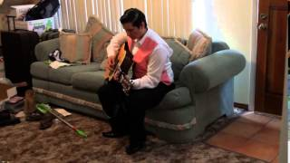 Guitar Practice, Eva's Brother, Eva Olvera & Elisha Lillard Wedding, 17 Mar 12, Yuma, AZ, 11:41:03