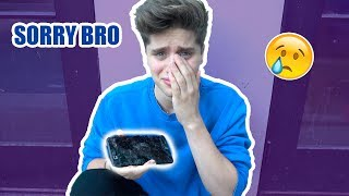 I BROKE MY BROTHER'S PHONE (he cried)