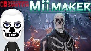Mii Maker How To Create Skull Trooper From Fortnite