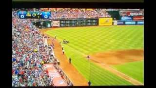 Huge Thunder Clap from Lightning Strike at Texas Rangers v Twins Game at Ballpark in Arlington