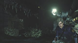 Resident Evil 2 Remake - Giant Zombie Crocodile Boss Fight (RE2 Remake 2019) PS4 Pro