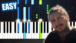 Post Malone - Psycho ft. Ty Dolla $ign - EASY Piano Tutorial by PlutaX