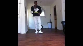 A Davis dancing to Whippin by-Chris Brown