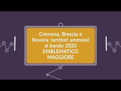 Contributi per progetti emblematici maggiori 2020