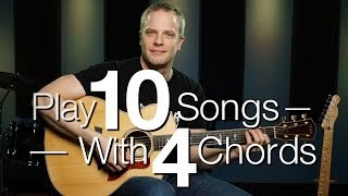 Play 10 Songs With 4 Chords - Free Guitar Lessons width=