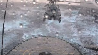 Seahawk MH 60R Trying To Land On Ship In Bad Weather!