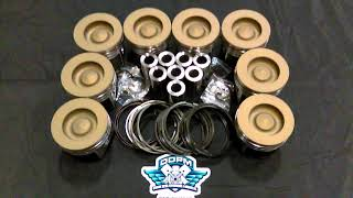 6.0L Powerstroke Diesel Piston Set Ceramic Coated