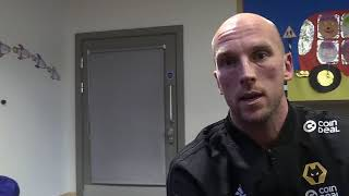 Tim Spiers interviews Wolves goalkeeper John Ruddy