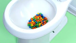 M&M'S CANDY STUCK IN TOILET!
