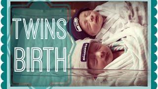 DELIVERING TWINS! | EMOTIONAL Live Birth Vlog | Nat + Wes