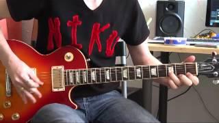 Guns N' Roses - Paradise city (guitar solo outro cover)