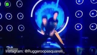 Matteo y Gaton cantando en el Open / soy Luna 2 (capitulo 20)