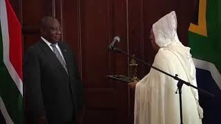 M. Youssef Amrani présente ses lettres de créance au Président sud-africain