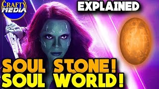 Soul Stone and Soul World Scenes Explained! Comics Explained! Avengers infinity War width=