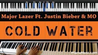 Major Lazer Ft. Justin Bieber & MO - Cold Water - Piano Karaoke / Sing Along / Cover with Lyrics