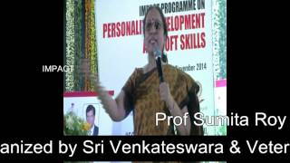How English Communication is important by Prof Sumita Roy at Tirupati IMPACT width=