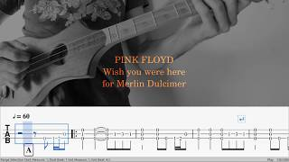 Wish You Were Here (instrumental) for Merlin Dulcimer Guitar and Strumstick in G