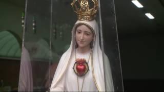 Fiéis realizam procissão em homenagem ao Dia de Nossa Senhora de Fátima, em Santos
