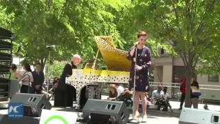 Lea Salonga sings 'Story of My Life' at The Sing for Hope Pianos (short video clip)