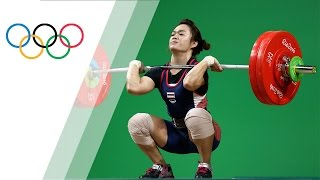 Thai weightlifter sets Olympic Record in Women's 58kg Weightlifting