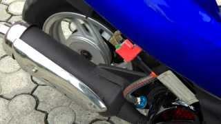 Gy6 Naraku Racing  Engine  test + sound  (Rex Rs450 ,Yuki Speedy)