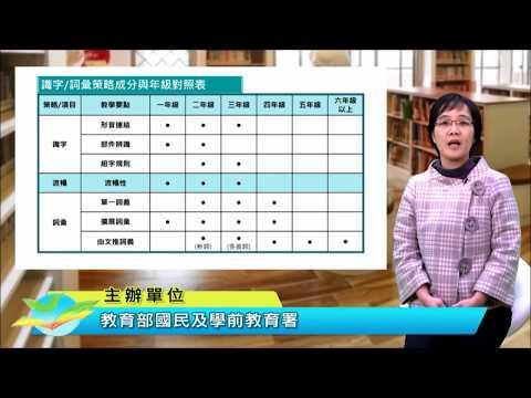 課文本位閱讀理解策略教學初階課程-03識字與流暢性 -  陳秀芬老師