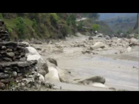A Glacier Lake Outburst Flood (GLOF) in Pokhara, Nepal (Full HD Video)