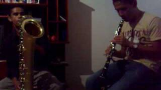 Clarinete e Sax Baritono ( Tiago e Marquinhos )