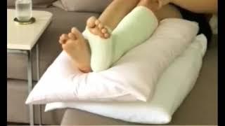 white leg cast at home