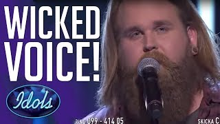 Wicked VOICE! Christoffer Kläfford Sings Wicked Game On Idol Sverige 2017!
