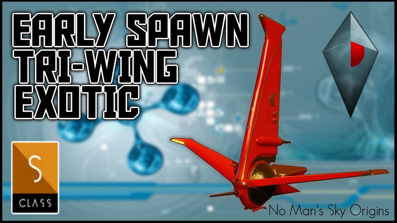 Manic Miners - No Man's Sky Origins - EARLY SPAWN RED TRI WING EXOTIC STARSHIP - No Mans Sky Origins 2020