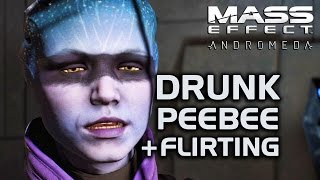 Mass Effect Andromeda - Peebee Drunk in the Museum + Flirting