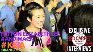 Peyton Elizabeth Lee #AndiMack interviewed at 2017 Kid's Choice Awards Red Carpet #KCA