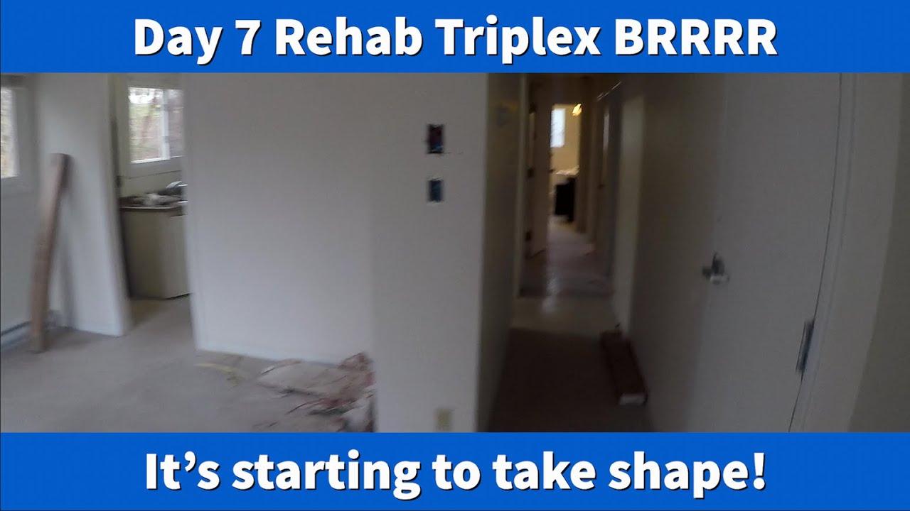 LAGTVMaximusBlack - Day 7 Rehab Triplex BRRRR  - Real Estate Investing