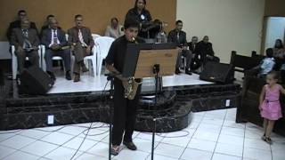 culto da banda  primeira apresentação Rayan sax alto