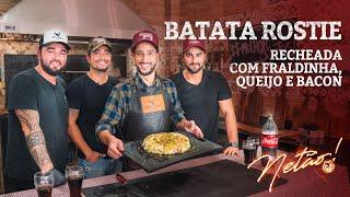 Batata Rostie recheada com fraldinha na brasa, queijo e bacon! | Netão! Bom Beef #55