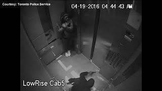 Toronto Police release video of alleged shooting, kidnapping inside elevator