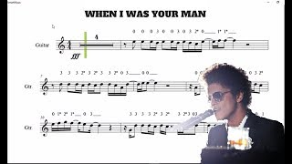 When I Was Your Man (Bruno Mars) violin and guitar.